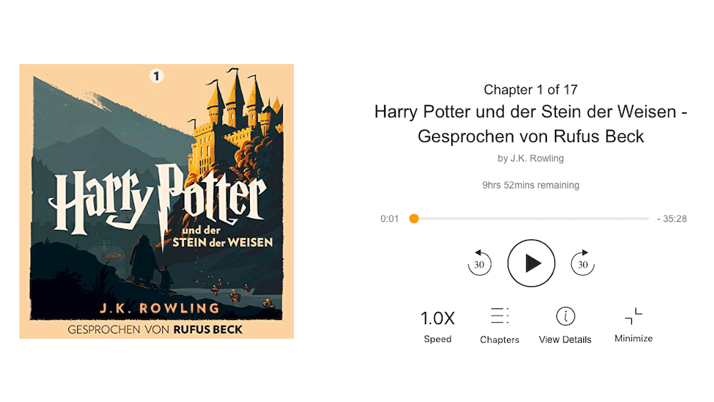Harry Potter und der Stein der Weisen bei Audible Stories
